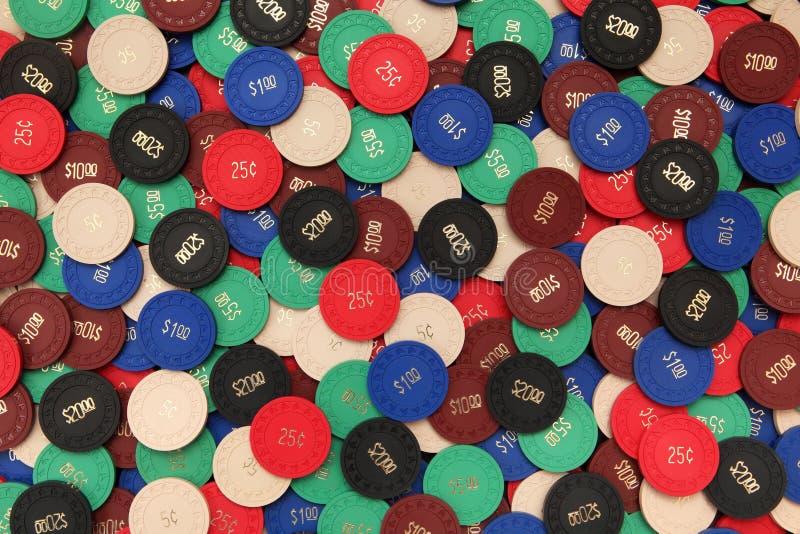 O póquer lasca o fundo imagens de stock royalty free