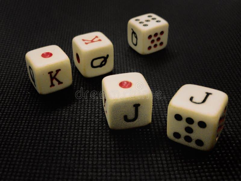 O pôquer corta imagem de stock