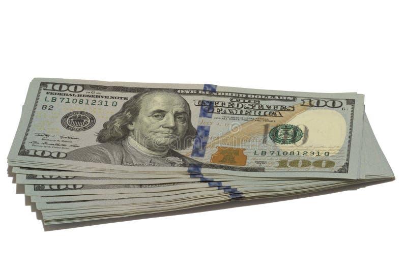 O pacote de dólares americanos imagem de stock