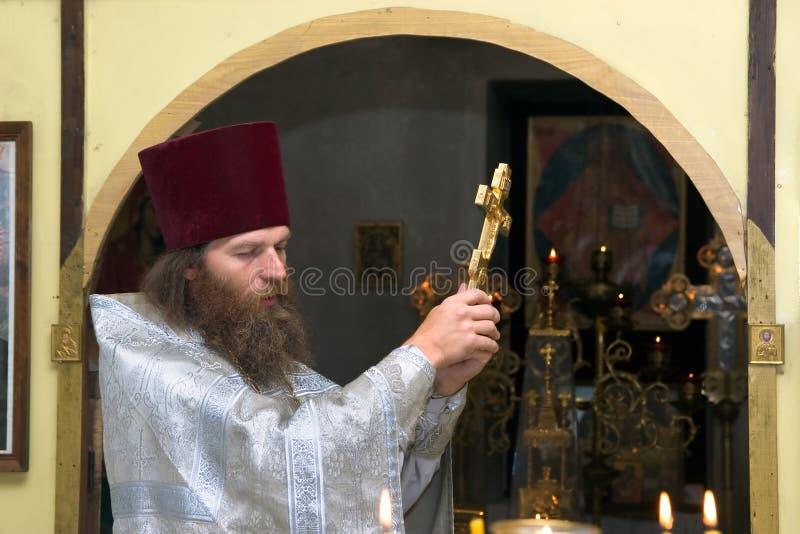 O padre ortodoxo do russo imagem de stock royalty free