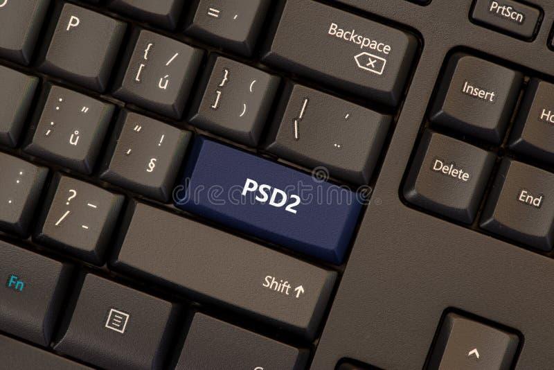O pagamento presta serviços de manutenção à diretriz orientadora 2 PSD2 fotos de stock