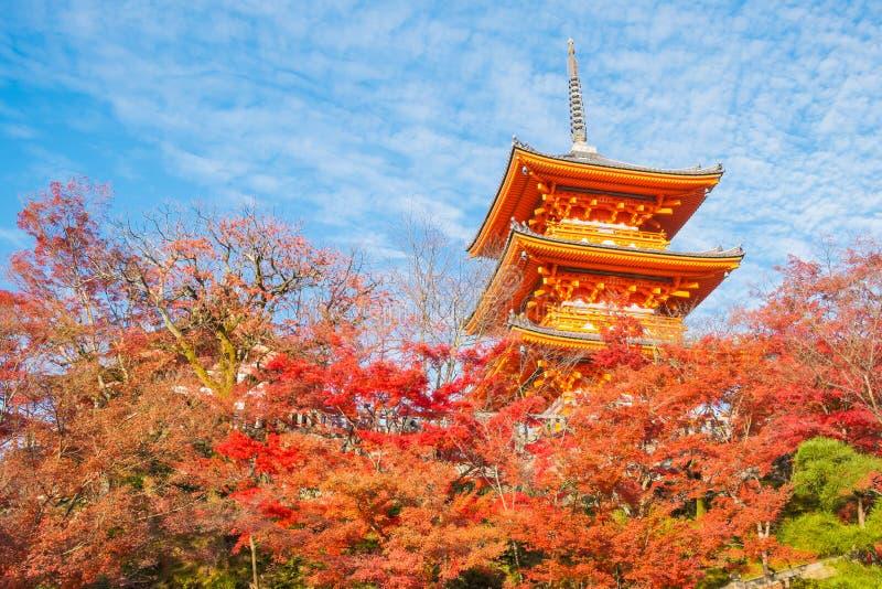 O pagode de Kiyomizu-dera em Kyoto, Japão , Kyoto, Japão em Kiy imagem de stock royalty free