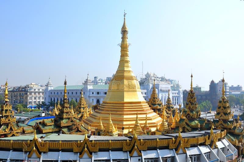 Pagode de Sule em Yangon, Myanmar imagem de stock