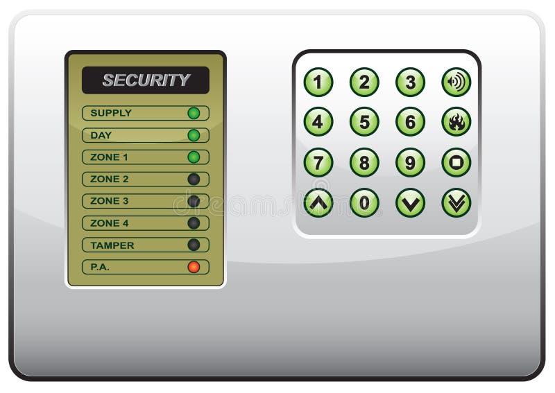 O painel do sistema de segurança ilustração do vetor