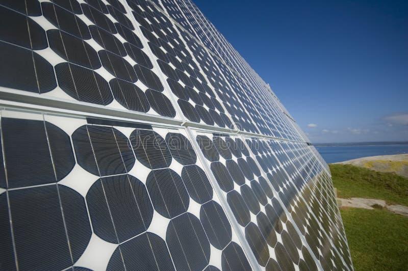 O painel solar foto de stock