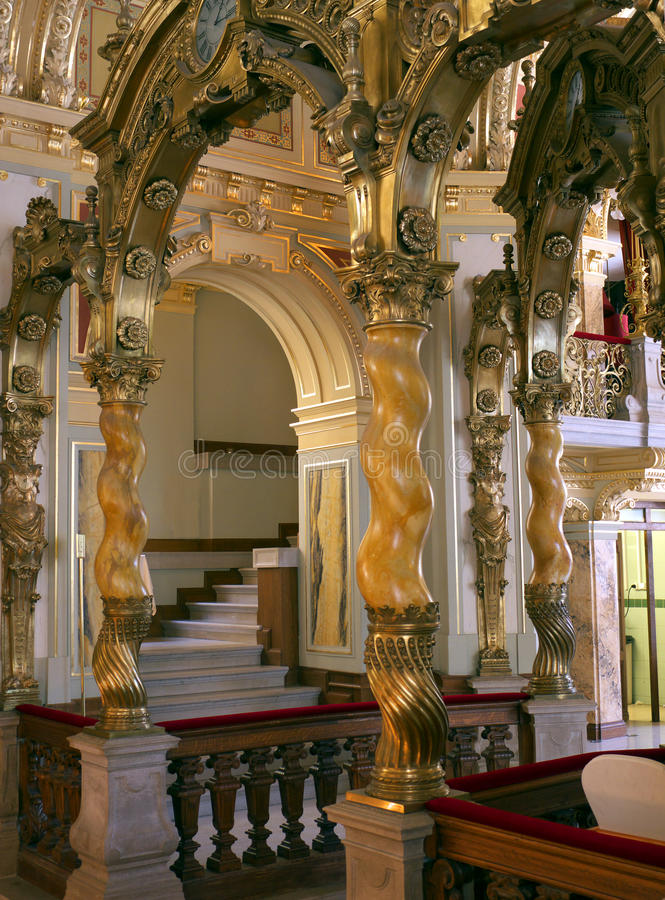 O palácio bonito gosta do interior fotos de stock