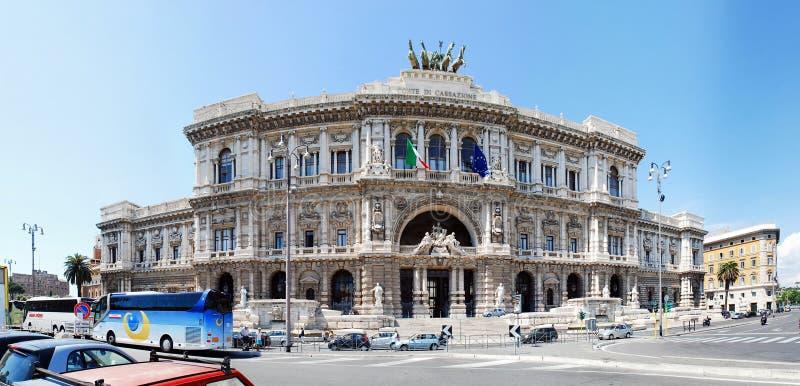 O palácio da cidade de Roma da arquitetura de justiça vê o 30 de maio de 2014 foto de stock