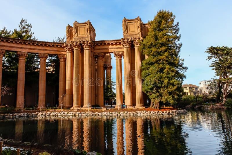 O palácio das belas artes em San Francisco California foto de stock royalty free