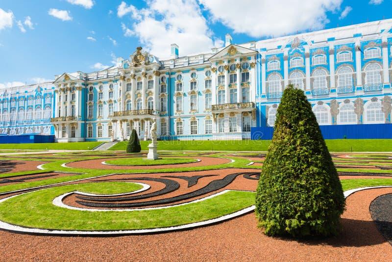 O palácio de Catherine Tsarskoye Selo (Pushkin) fotos de stock