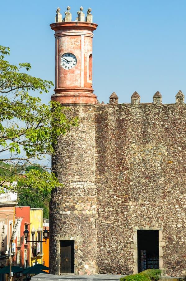 O palácio de Cortes em Cuernavaca, México imagem de stock