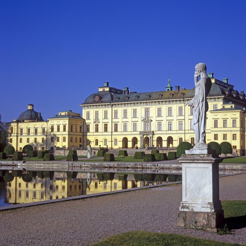 Verão do palácio de Drottningholm imagem de stock