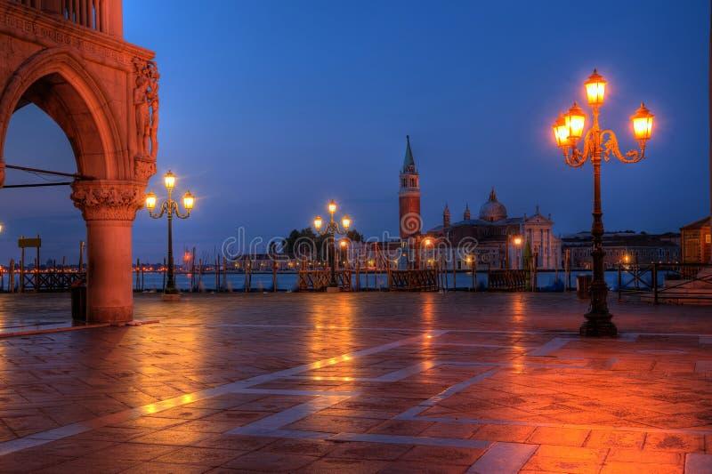 O palácio de Duks no St. marca o quadrado em Veneza Italy imagem de stock royalty free