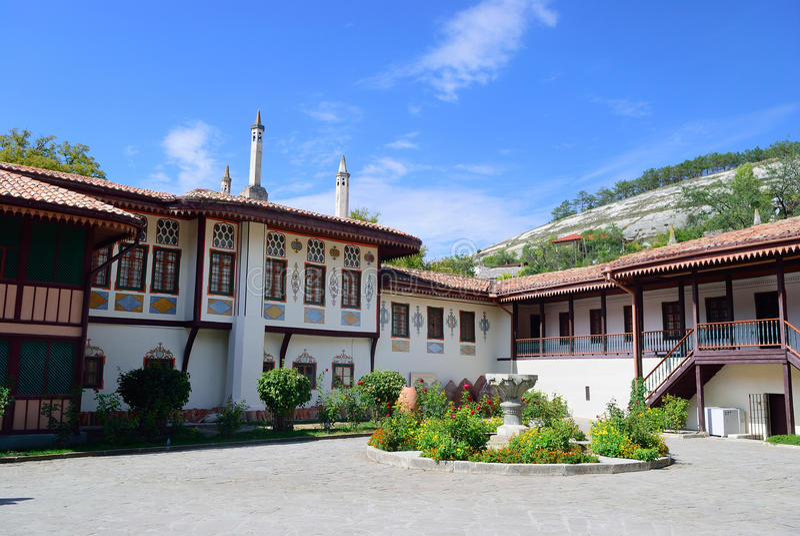 O palácio de Khan em Bakhchisarai crimeia fotografia de stock