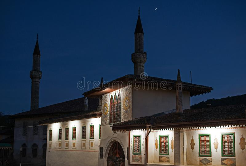 O palácio de Khan no Bakhchisaray imagem de stock royalty free