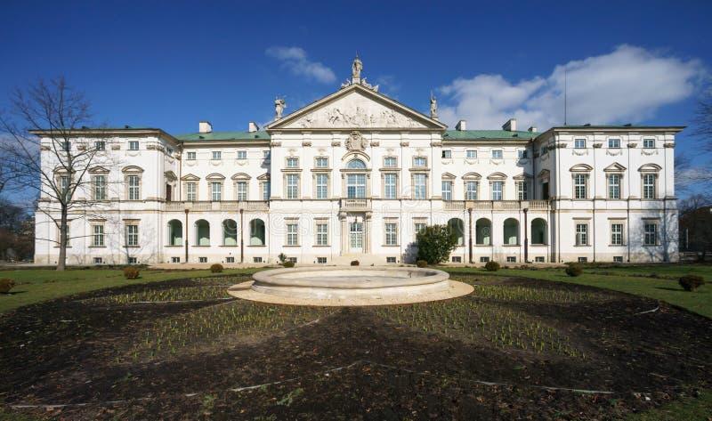 O palácio de Krasinskich em Varsóvia imagens de stock royalty free