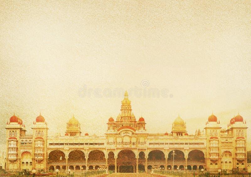O palácio de Mysore é um palácio histórico fotos de stock royalty free