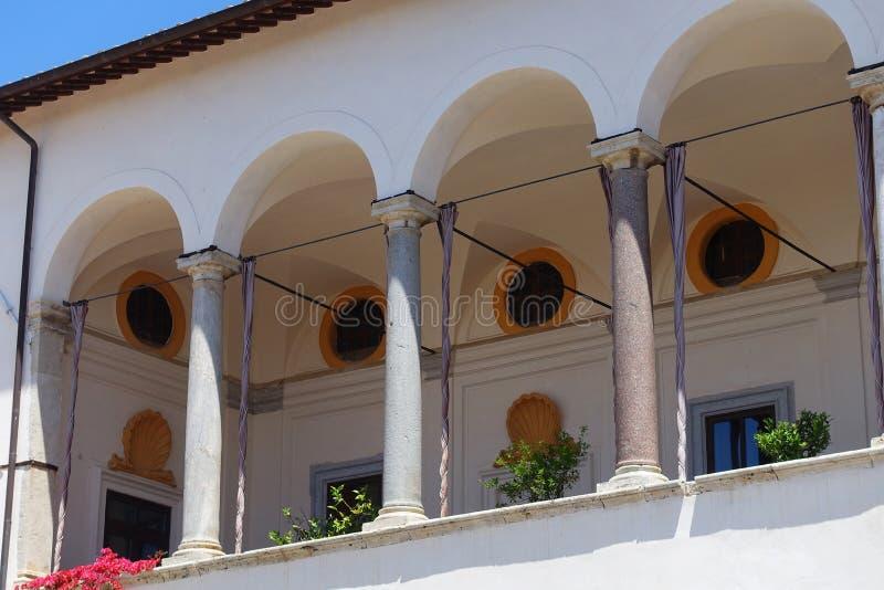O palácio de Ruspoli em Cerveteri foto de stock