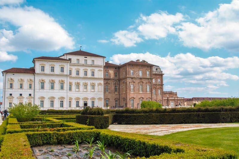 O palácio de Venaria, residência real em Turin, piedmont fotos de stock royalty free