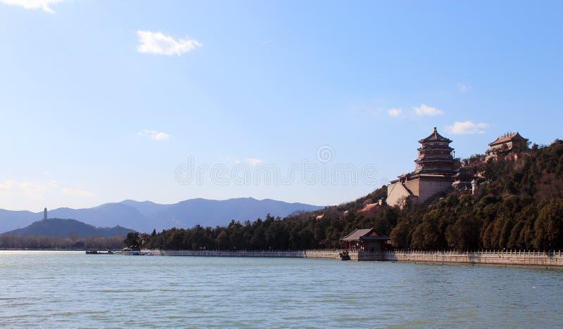 O palácio de verão, Pequim imagens de stock