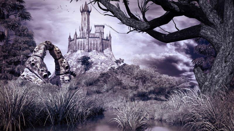 O palácio do feiticeiro ilustração royalty free