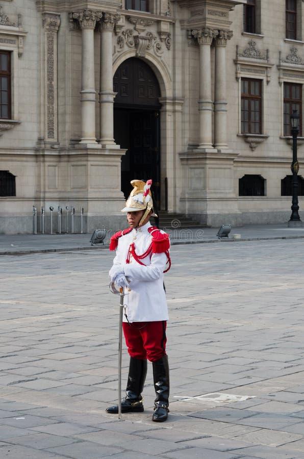 O palácio do governo em Lima, Peru imagens de stock royalty free