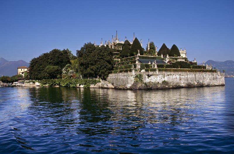 O palácio Ducal jardina, Isola Bella, lago Maggiore imagens de stock royalty free