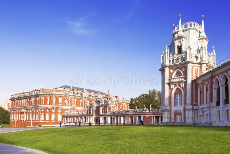 O palácio grande da rainha Catherine The Great em Tsaritsyno fotos de stock