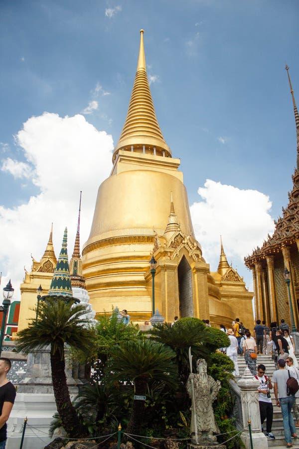 O palácio grande em Banguecoque, Tailândia Real, atrações imagens de stock royalty free