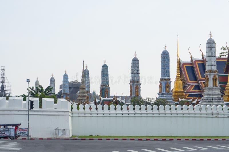 O palácio grande foi a residência oficial dos reis de Sião desde 1782 no centro de Banguecoque fotografia de stock royalty free