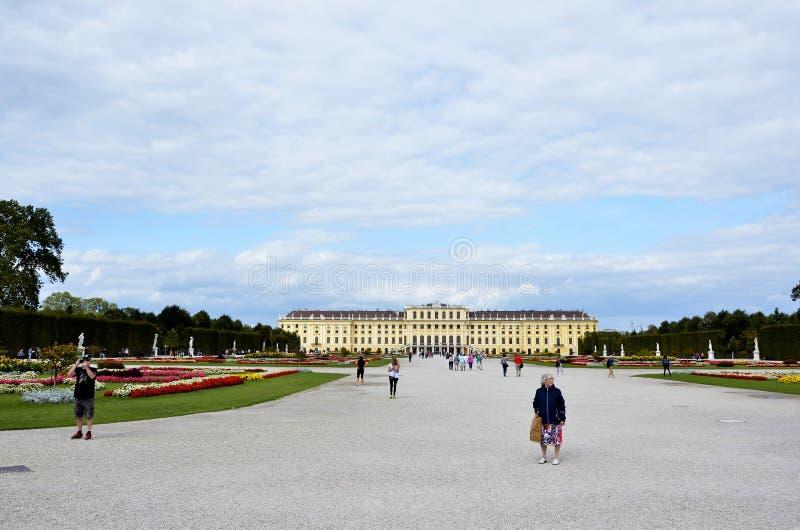 O palácio imperial em Viena fotos de stock