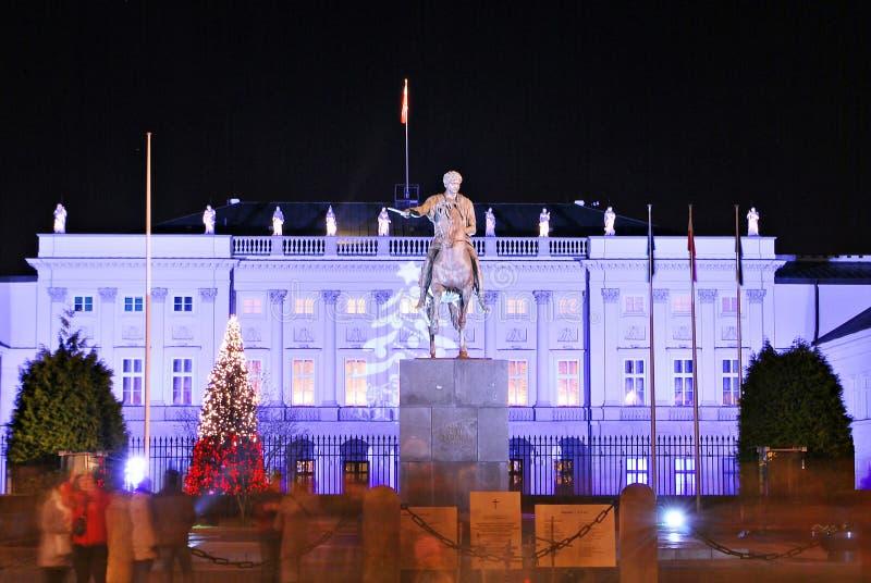 O palácio presidencial em Varsóvia, Poland imagens de stock royalty free