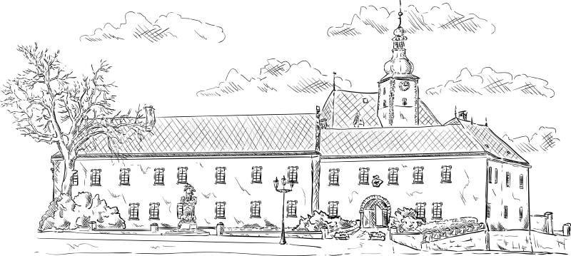 O palácio velho ilustração do vetor
