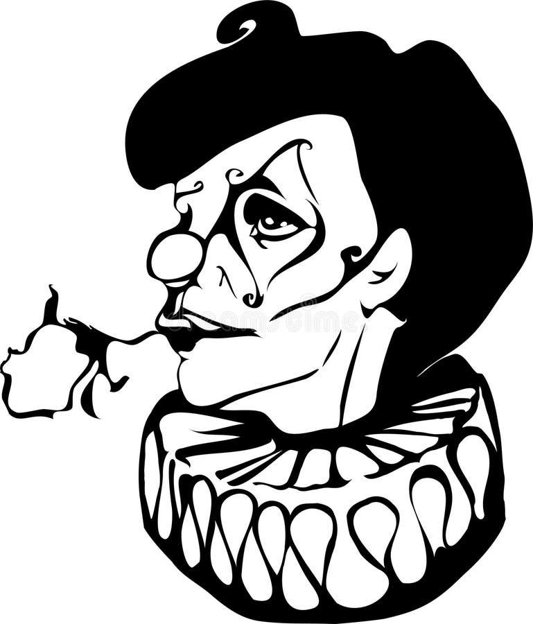 O palhaço triste ilustração stock