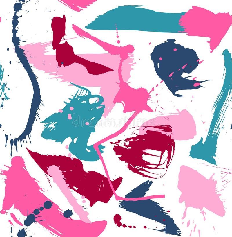 O panit abstrato espirra o teste padrão colorido no branco ilustração royalty free
