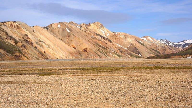 O panorama das montanhas do arco-íris fotografia de stock royalty free