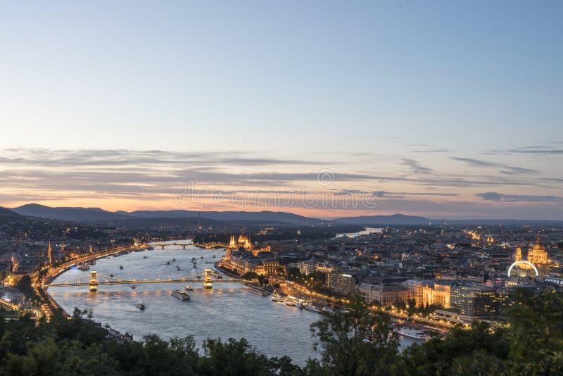 O panorama de Budapest fotos de stock royalty free