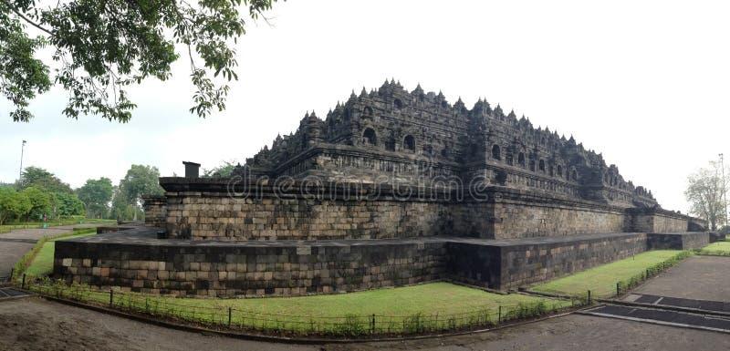 O panorama do templo de Borobudur foto de stock