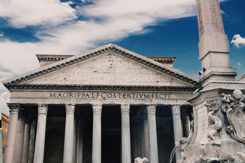 O panteão, comissão por Marcus Agrippa imagem de stock