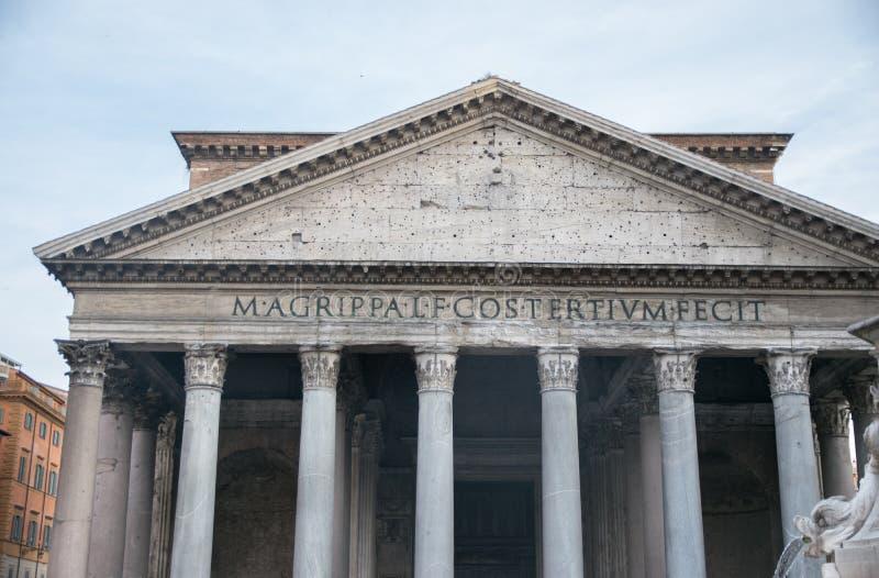 O panteão em Roma, Italy imagem de stock royalty free