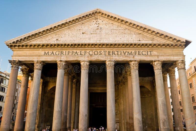 O panteão, Roma fotografia de stock