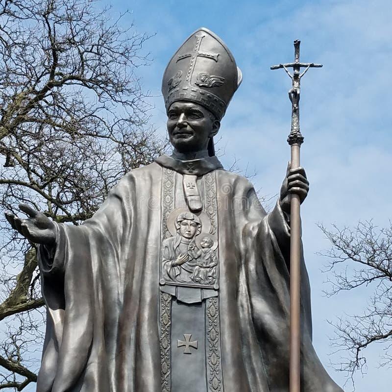 O papa Estátua fotos de stock royalty free