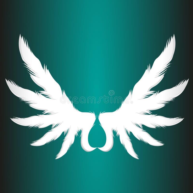 O papel abstrato do anjo voa a ilustração do elemento do logotipo do vetor do negócio ilustração do vetor
