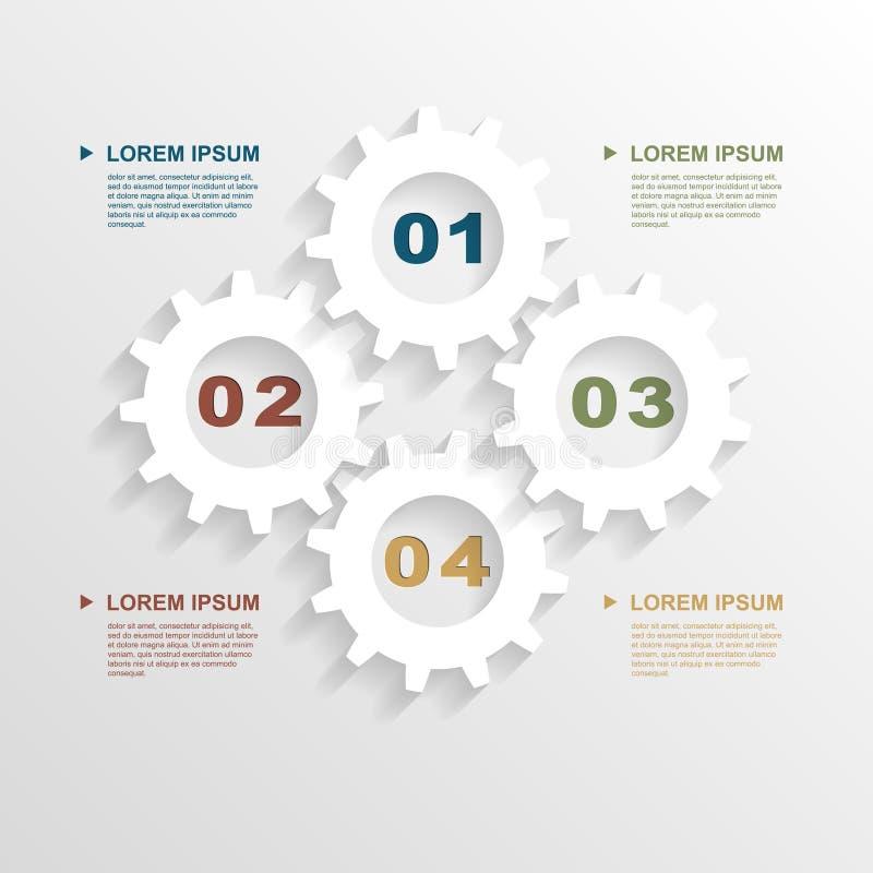 O papel alinha infographic ilustração do vetor