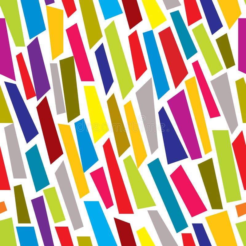 O papel colorido corta o teste padrão sem emenda ilustração royalty free