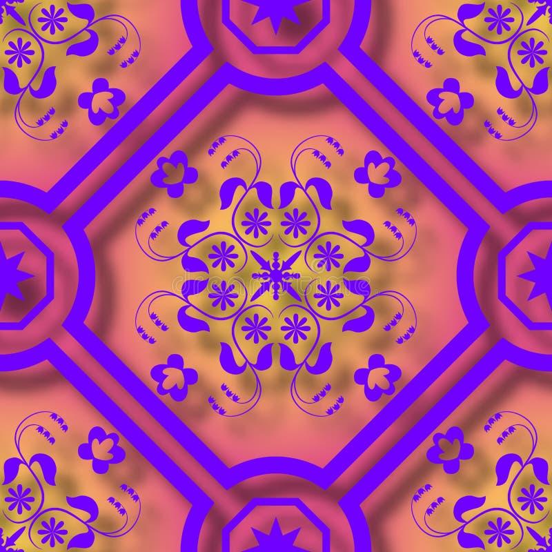 O papel 3d floral cortou o fundo sem emenda do teste padrão do estilo Para o convite carda a decoração Ilustração do vetor ilustração stock