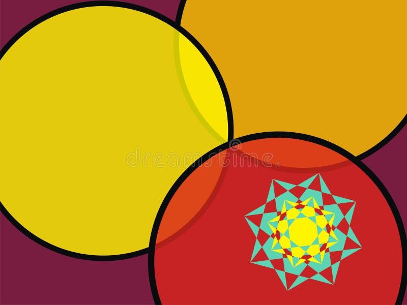 O papel de parede do círculo de três cores fotografia de stock royalty free