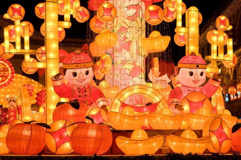 O papel fêz a arte -final para comemorar lunar chinês fotos de stock