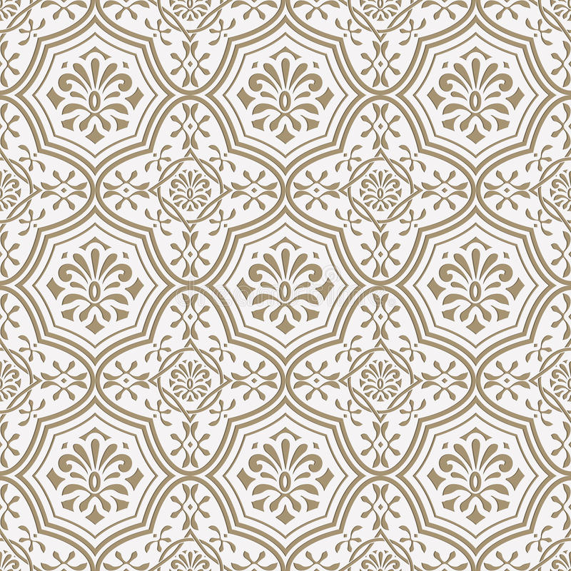 O papel sem emenda do vetor cortou o teste padrão floral, estilo indiano ilustração royalty free