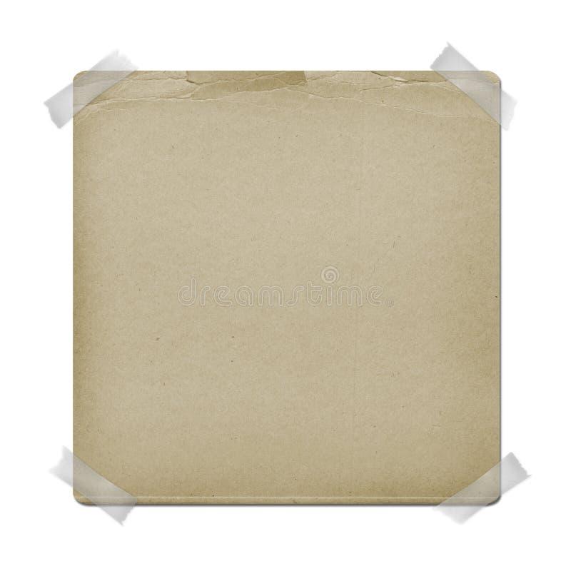 O papel velho está pendurando para o anúncio imagem de stock