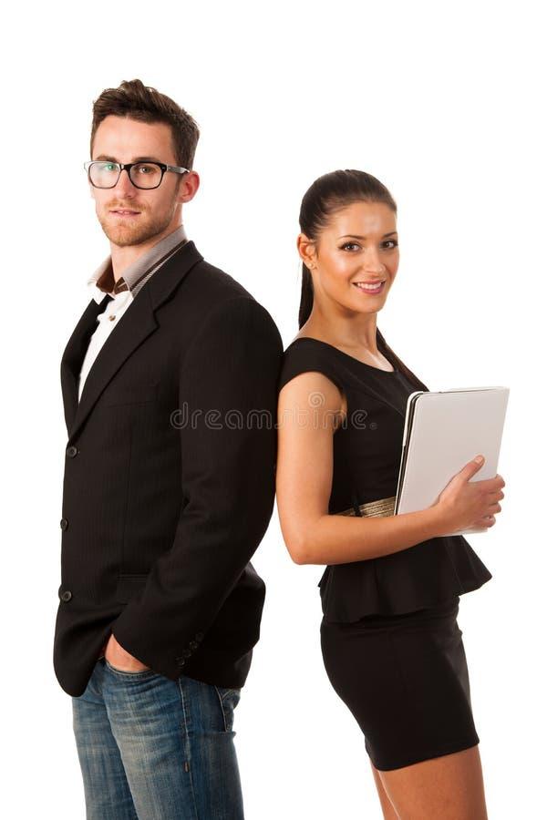 O par bem sucedido do negócio que está junto, é seguro e p fotos de stock royalty free